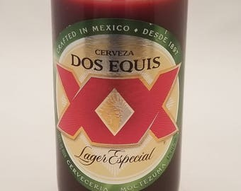 Dos Equis Beer Bottle Candle (Atomic Fireball Cinnamon Scent)