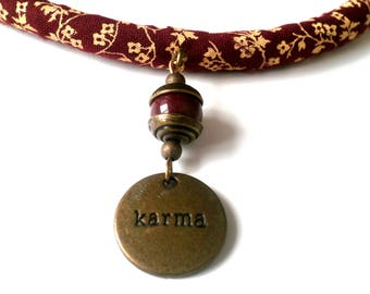 Necklace ethnic woman power of karma