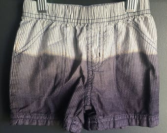 24 month striped shorts, dipped dyed