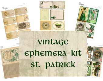 Digital Vintage Ephemera Kit - St Patrick's Day