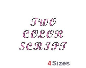 Two Color Script - Machine Embroidery Font