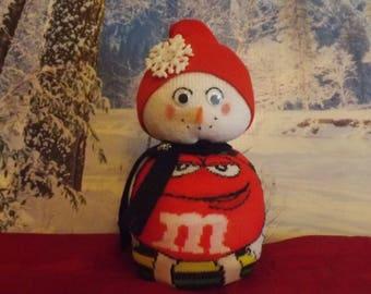 "M&M's ""Red"" Christmas Snowman Singles!"