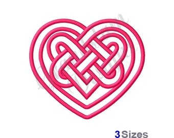 Celtic Heart Outline - Machine Embroidery Design