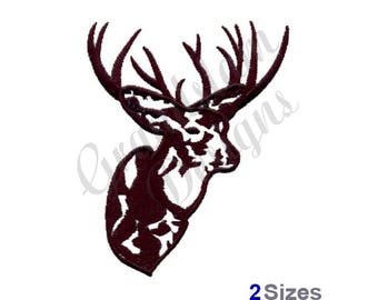 Deer Head Outline - Machine Embroidery Design