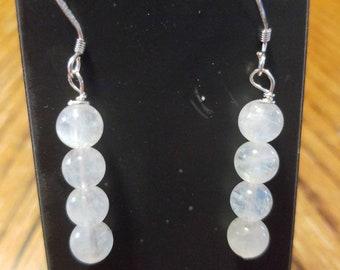 Handmade moonstone grade AAA Sterling silver earrings