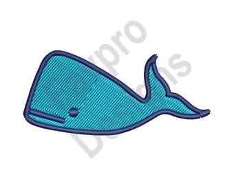 Big Whale - Machine Embroidery Design