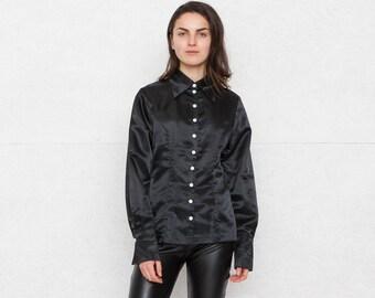 Vintage Black Woman Shirts/ Size L
