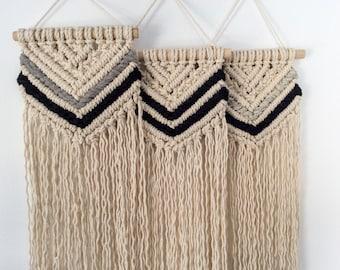 Vena* Medium macrame wall hanging, coloured cotton weave, weaving, tapestry, wall art, macrame wall art, cotton rope, rustic style, bohemian