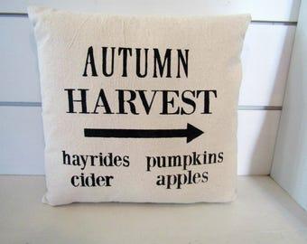 Autumn Harvest -Shabby-Chic Farmhouse Pillow