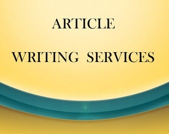 Article Writing Services- Your Topic - Niche Site - Custom Content - Keywords - Readable - Unique Information