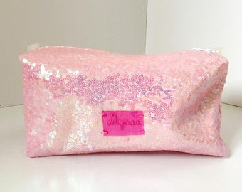 Large Cosmetic Bag - Sequin