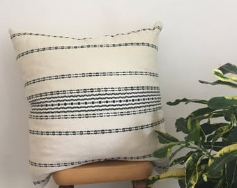 Organic Cotton Decorative Throw Pillow with Wool and Natural Latex Fill