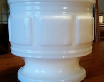 Randall Glass Company Milk Glass Footed Jardiniere
