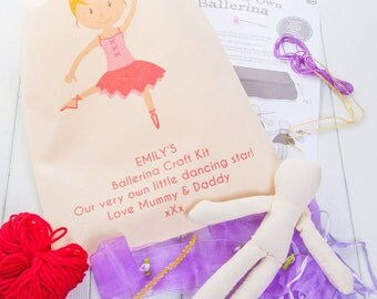 Personalised Make Your Own Ballerina Craft Kit