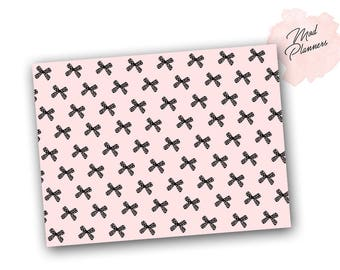 Printable - Pink Bow Paper
