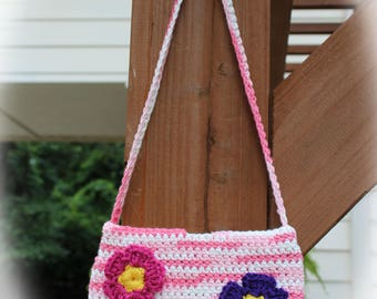 Cute small pink flower purse