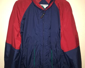 Vintage Red and Blue Windbreaker