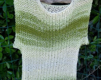 HAND KNITTED TANK TOP SLEEVELESS