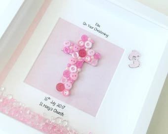 Christening Frame, Christenings, Boy, Girl, christening present, christening gift, keepsake frame, personalised, baby gift, baby shower