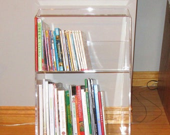 Acrylic - Lucite Bookcase - Plexiglas-