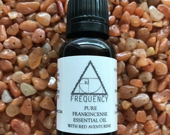 Frankincense Pure Essential Oil with Red Aventurine