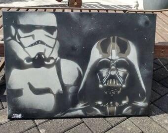 Original Star Wars Graffiti Canvas