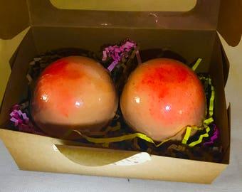 XL Georgia Peach Bath Bombs
