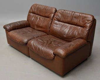 De Sede two seater leather sofa !!! SALE !!! SALE !!! Was 849,- Now 750,-