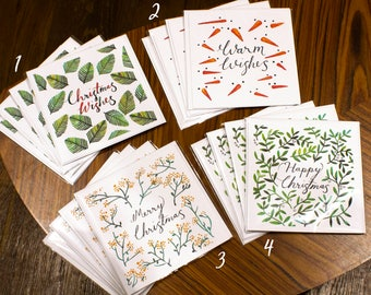 Pattern Christmas Card - Single Card with Envelope