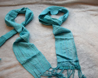 Christmas Value Pack Loco in Lisbon Long Girls Scarf and Loop Scarf Aqua Blue Gift Set Size Ages 5-10 years