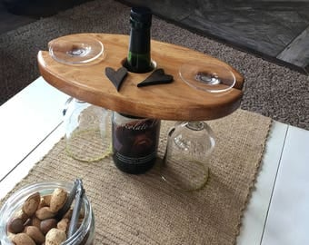 wine caddy, wine gift, wine carrier, wine holder