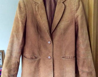 "Vintage Corduroy Jacket 1970s 34"""