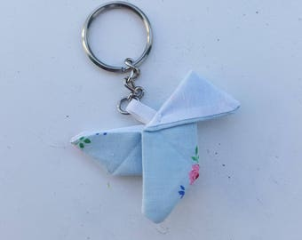 Light blue origami Keyring