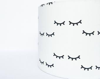 White Eyelash lampshade