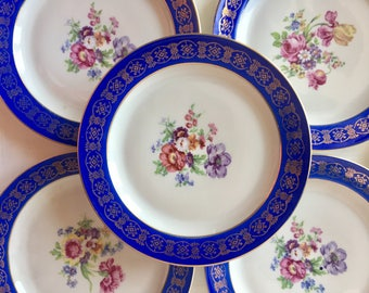 Bavaria, 1 large and 6 small dessert/fruit Dishes