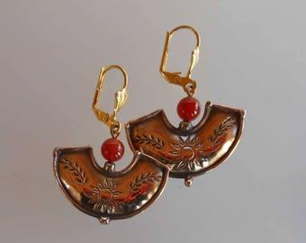 Earrings bronze earrings 0061