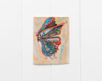 Set of 6 Butterfly Notecards/Colorful Butterfly Greeting Card/Watercolor Butterfly/Blank Card/Butterfly Thank You Card/Butterfly Gift/CC-26