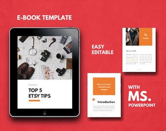 Ebook template etsy buy 1 get free 1 ebook template fully editable powerpoint template portfolio pronofoot35fo Choice Image