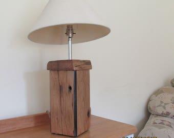 Bespoke Oak Table Lamp