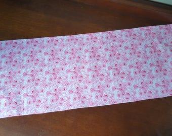 Pink Flowers table runner
