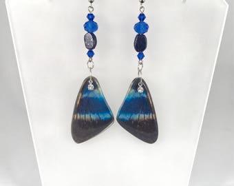 Lapis Lazuli Earrings Butterfly Earrings Blue Lapis Earrings Lapis Lazuli Earrings Statement Earrings Lapis Lazuli Jewelry Blue Earrings