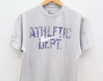 Vintage NIKE ATHLETIC DEPT Sportswear Gray Tee T Shirt Size L