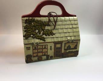 Vintage wooden Ladies General Store Purse Handbag