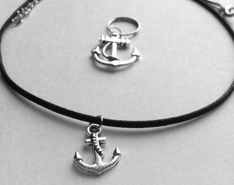 Anchor Matching Bridle Charm & Necklace