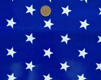Blue stars laminated cotton fabric, Oilcloth tablecloth, waterproof tablecloth, modern tablecloth fabric, vinyl material, wipe clean fabric
