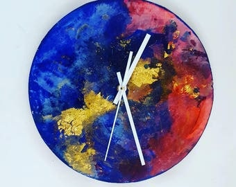 modern large wall clock, unique wall clock, kitchen decor wall clock, decorative wall clock, home decor clock, home clock , weeding gift