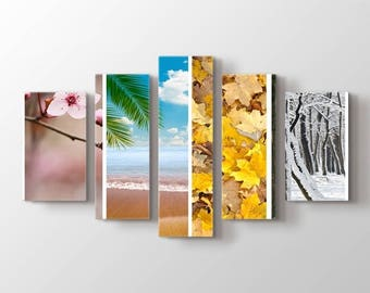Large Wall Art Landscape Canvas Print - 4 Season Nature Canvas