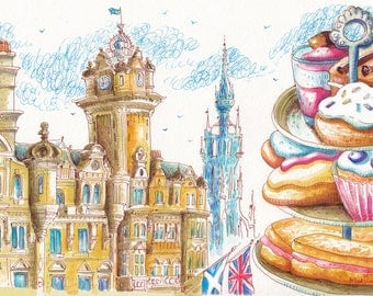 Balmoral hotel Edinburgh - afternoon tea.