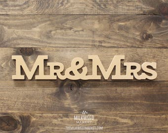 Mr & Mrs Cutout Sign, Unfinished