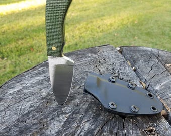 Handmade knife with kydex sheath